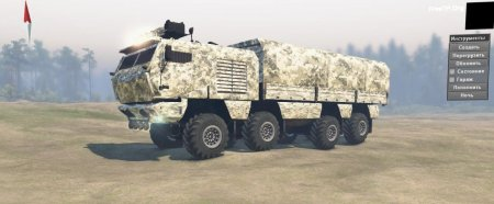Скачать мод грузовик Камаз 63968 Тайфун 8х8 версия 23.03.19 для Spintires v. 03.03.16
