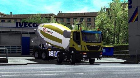 Скачать мод грузовик Iveco Hi-Land Concrete Mixer для Euro Truck Simulator 2 v. 1.32-1.34