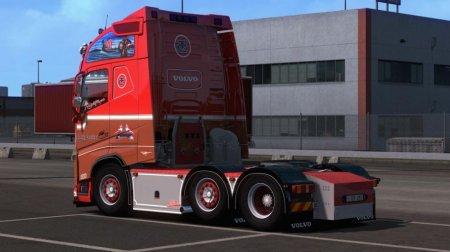 Скачать мод грузовик Volvo FH16 540 Ronny Ceusters для Euro Truck Simulator 2 v. 1.32-1.34