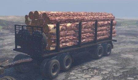 Скачать мод прицеп лесовоз для Spintires v. 03.03.16