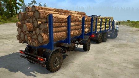 Скачать мод грузовик Камаз 4310 Лесовоз для Spintires MudRunner