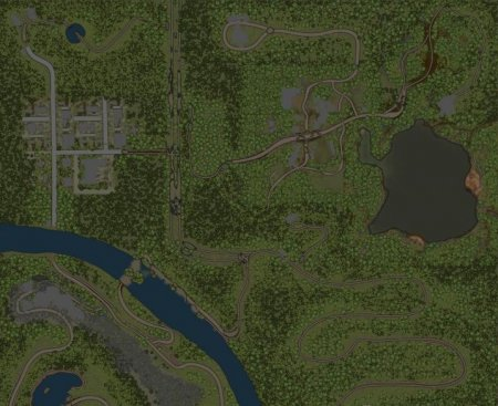 Скачать мод карта «Дорога в город» для Spintires MudRunner