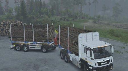 Скачать мод грузовик MAN TGS 33.480 для Spintires v. 03.03.16