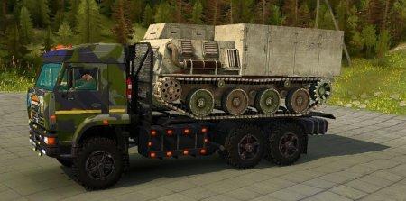 Скачать мод грузовик КамАЗ 65221 6x6 для Spintires MudRunner