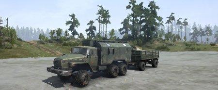 Скачать мод грузовик Урал 4320 Монстр для Spintires MudRunner