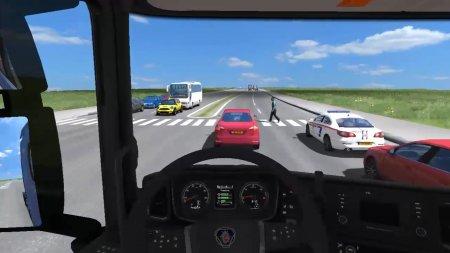 Скачать мод Crossing Walkers для Euro Truck Simulator 2 v. 1.35