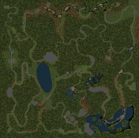 Скачать мод карта «Лесная долина» для Spintires v. 03.03.16