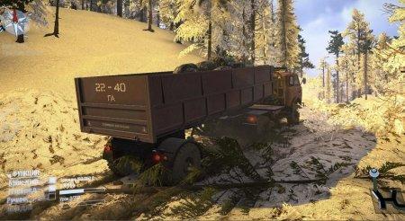 Скачать мод карта «Dark Forest Snow» для Spintires MudRunner