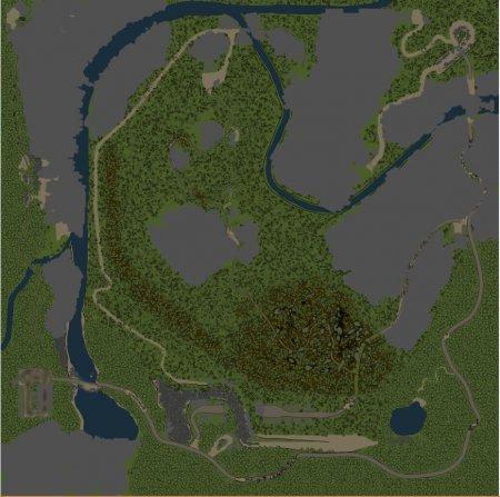 Скачать мод карта «Hard road» для Spintires v. 03.03.16