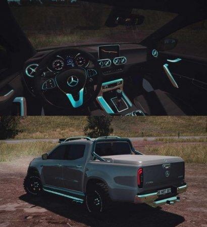 Скачать мод Mercedes-Benz X-Class 2018 для Euro Truck Simulator 2 v. 1.35-1.36