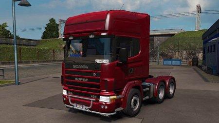 Скачать мод грузовик Scania 124L для Euro Truck Simulator 2 v. 1.35-1.36
