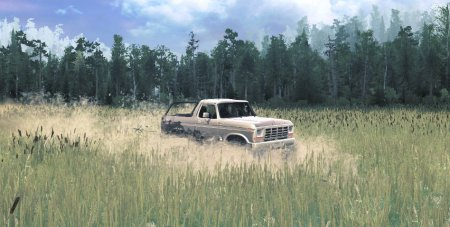 Скачать мод Ford 1978 Silver Mud Bronco для Spintires MudRunner