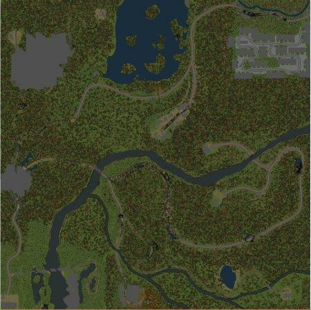 Скачать мод карта «Забытый Город» для Spintires MudRunner