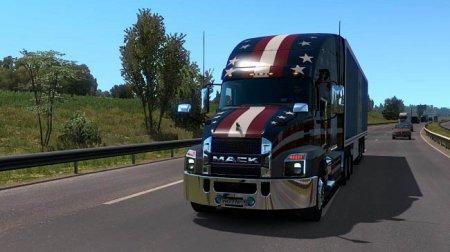 Скачать мод грузовик Mack Anthem v1.1 для Euro Truck Simulator 2 v. 1.37