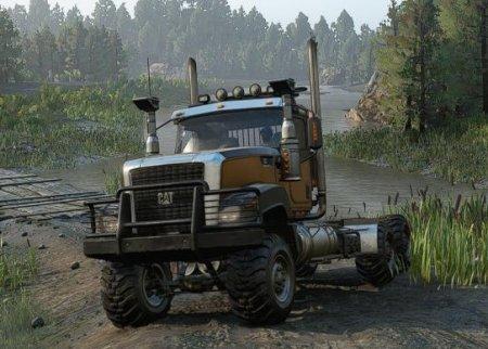 Скачать мод грузовик Caterpillar CT680 для SnowRunner