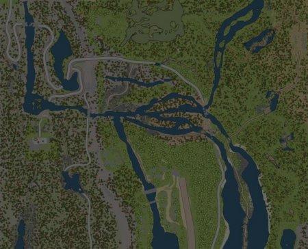 Скачать мод карта «Дамба 2» для Spintires MudRunner