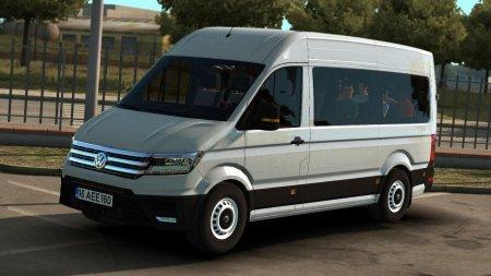 Скачать мод микроавтобуса Volkswagen Crafter 2019 v1.1 для Euro Truck Simulator 2 v. 1.37